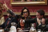 La ex concejal del PP María Francés, durante un pleno en el Ayuntamiento de Granada.