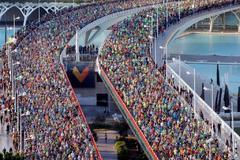 Vista general de la salida de una edición del Maratón de Valencia Trinidad Alfonso.