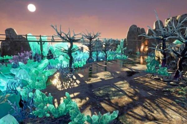 El universo futurista de 'Killsquad', que Novarama lanzará a mediados de julio.