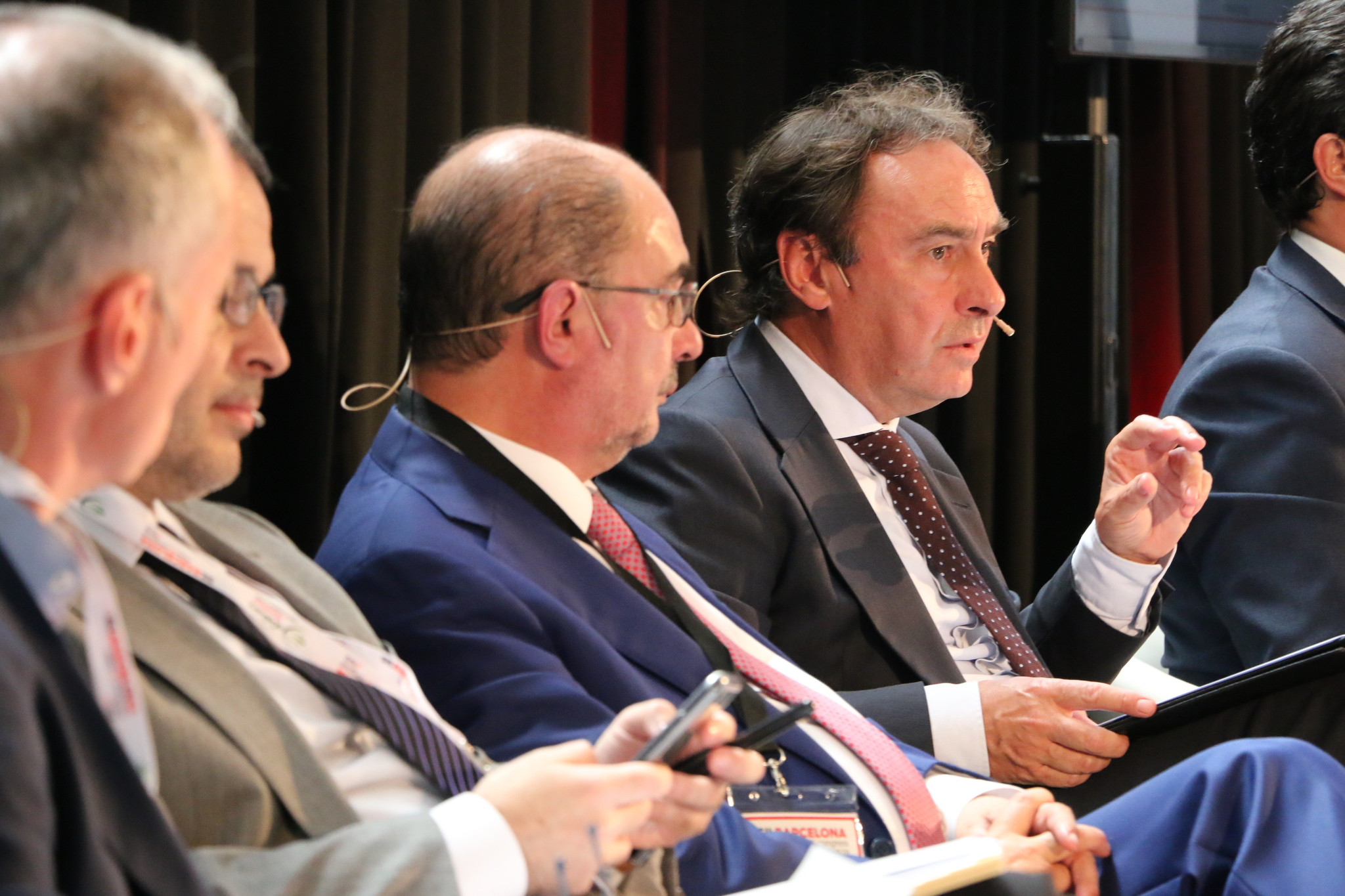 El viceconsejero Antonio Aiz durante su intervención en el Salón Internacional de Logística de Barcelona.