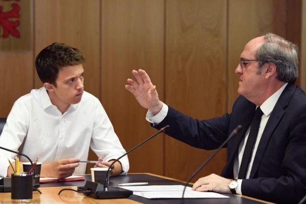 Íñigo Errejón (Más Madrid) y Ángel Gabilondo (PSOE), en la Asamblea.