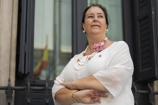 La presidenta de la Asociación de Víctimas del Terrorismo, Maite...