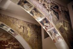 Pinturas murales reclamadas por el monasterio de Sijena, actualmente en el Museo de Lérida.