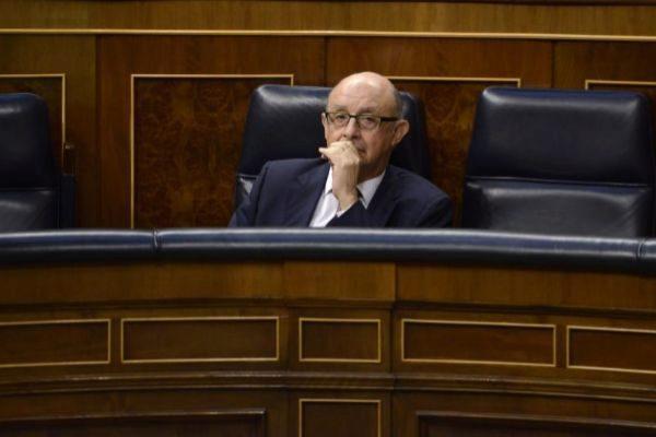 Cristóbal Montoro en el Congreso de los Diputados.