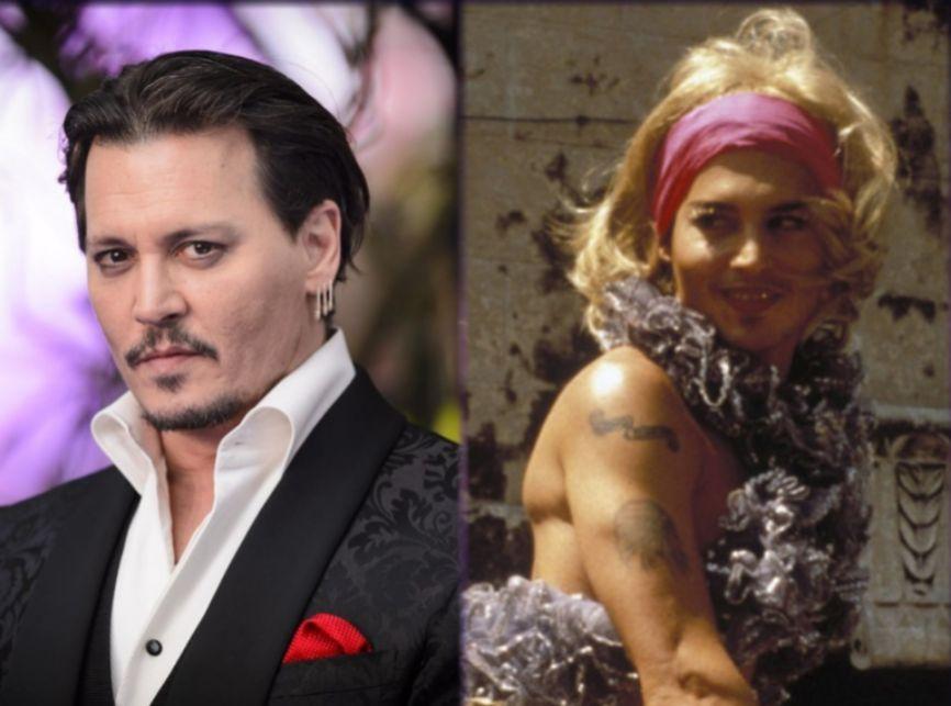El actor Johnny Depp, de 56 años, cambió los pantalones y su oscuro...