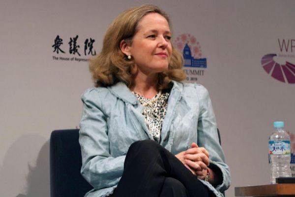 La ministra de Economía, Nadia Calviño, ayer en Tokyo.