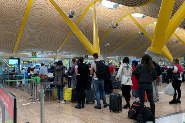 La terminal 4 del aeropuerto Madrid-Barajas Adolfo Suárez..