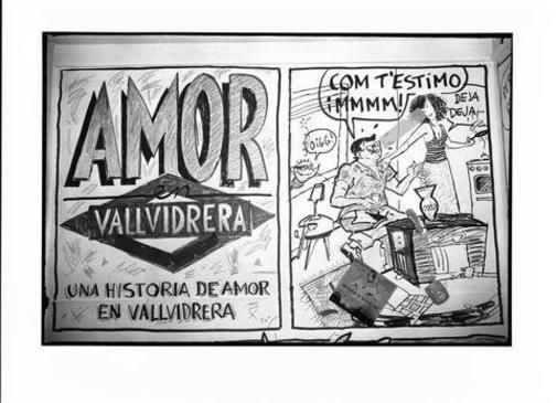 'Amor en Vallvidrera', un cómic colectivo de 'El Víbora'.