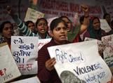 Protesta contra la violencia de género en Nueva Delhi.