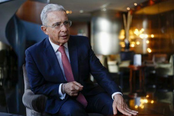 El ex presidente colombiano Álvaro Uribe, en Madrid.
