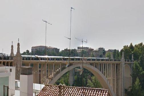 Acueducto Viejo de Teruel, donde se produjo el suceso