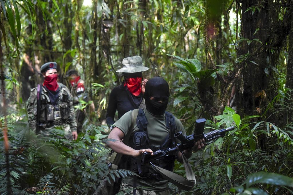 Miembros del Frente Ernesto Che Guevara, del ELN, en el departamento del Choco.