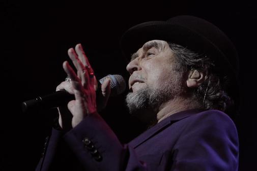 Joaquín Sabina, durante un concierto.