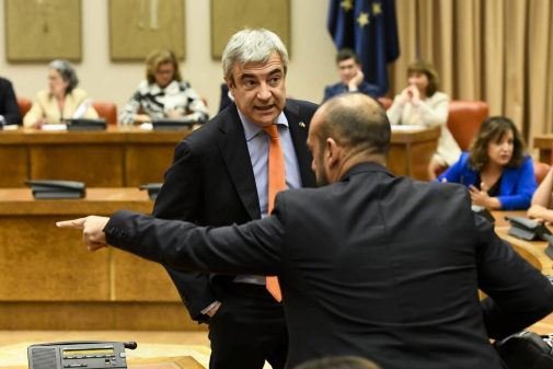 Luis Garicano, durante el acto de acatamiento de la Contitución como...