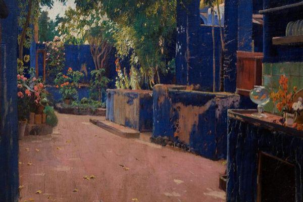 'Patio azul' (1913) de Santiago Rusiñol.