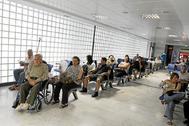 Sala de espera en el servicio de Urgencias.