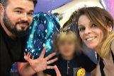 El portavoz de Esquerra, Gabriel Rufián, en el cumpleaños de su hijo junto a su pareja
