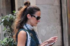 Telma Ortiz entrando en ESERP, Escuela de Negocios de Barcelona en la que trabaja
