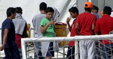Menores migrantes alojados en el centro de Homestead (EEUU)