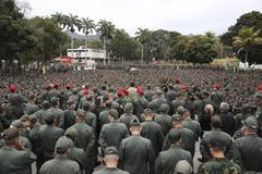 Varios militares en un discurso de Maduro en el Fuerte Tiuna.