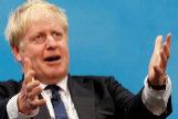 Boris Johnson, durante un acto en Manchester.