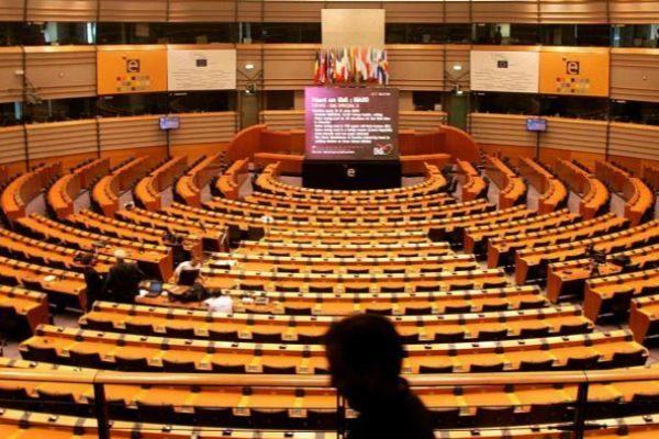 Imagen del hemiciclo del Parlamento europeo.