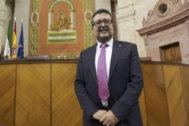 El juez Serrano, en la constitución del Parlamento andaluz