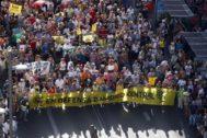 Manifestación en favor de Madrid Central.