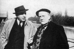 Gregorio Marañon y Pío Baroja en París.