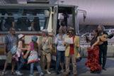Fotograma de la película 'Asesinos en el mar' en la que se representa a Málaga.