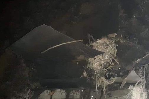 Las imágenes del norte de Chipre muestran el lugar del accidente de una aeronave no identificada en el momento en que se produjeron los ataques en Siria.