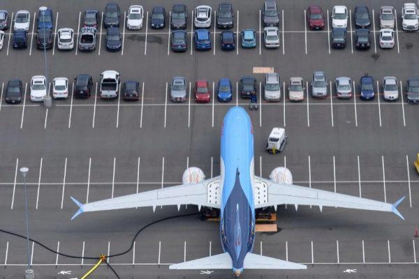 Un Boeing 737 MAX en el aeropuerto de Seatle (EEUU).