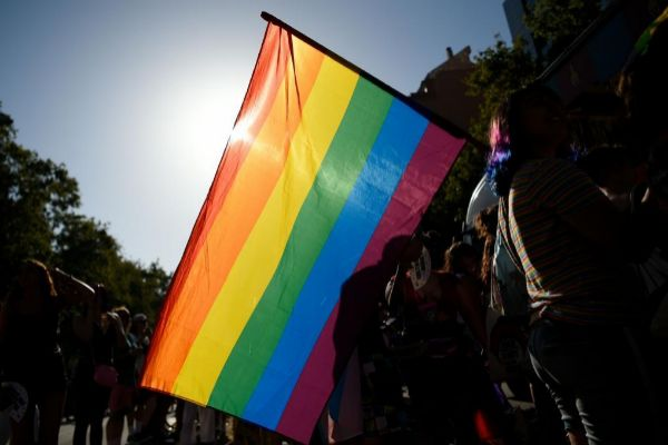 Concentración en Barcelona para celebrar la Pride,