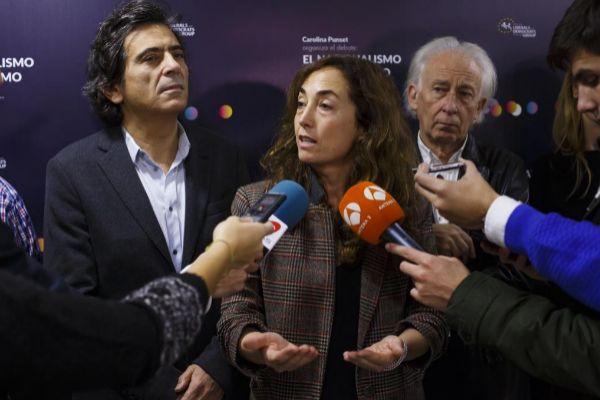 Carolina Punset en noviembre de 2016, en un debate organizado en Madrid con Arcadi Espada, Albert Boadella o Cayetana Álvarez de Toledo, entre otros.