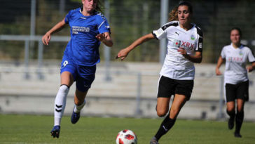 Bibiana Schulze-Solano durante un partido con el FFC Frankfurt.