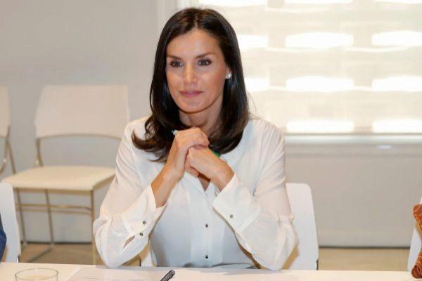 La Reina Letizia en una reunión de trabajo reciente.
