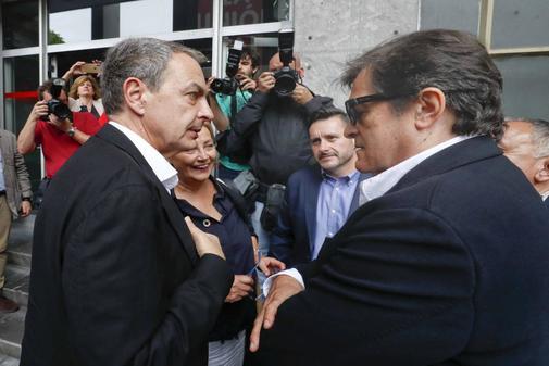 José Luis Rodríguez Zapatero, con el ex presidente de Asturias...