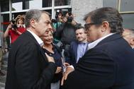José Luis Rodríguez Zapatero, con el ex presidente de Asturias Javier Fernández la semana pasada en Oviedo.
