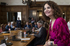 La ministra de Hacienda, María Jesús Montero, hoy en Santander.