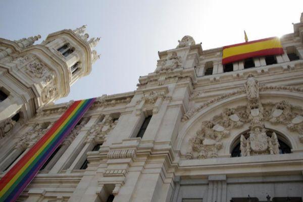 Vista de la fachada del Ayuntamiento de Madrid.