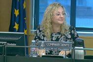María Sevilla, durante su comparecencia de 2017 en el Congreso de los Diputados.