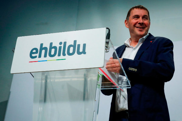 El coordinador general de EH Bildu, Arnaldo Otegi, en San Sebastián.