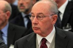 El ex vicepresidente del Gobierno Rodrigo Rato en el juicio por el 'caso Bankia'.