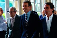 Pablo Casado y José María Aznar, este lunes en El Escorial.