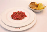 El steak tartar del restaurante La Ancha.