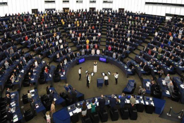 Imagen de la constitución del pleno del Parlamento europeo esta mañana en Estrasburgo.