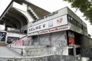 Entrada principal al estadio del Rayo Vallecano.