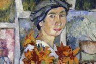 Autorretrato de Natalia Goncharova (1907).