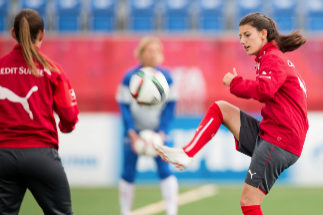 (FILES) In this file photo taken on June 13, 2015 <HIT>Swiss</HIT> Florijana <HIT>Ismaili</HIT> (R) takes part in a training session at the FIFA Women's World Cup at Clark Stadium in Edmonton, Canada. - A player on Switzerland's national women's football team, Florijana <HIT>Ismaili</HIT>, has been declared missing after a swimming accident on Lake Como in northern Italy, her professional club BSC Young Boys announced on June 30, 2019. (Photo by GEOFF ROBINS / AFP)