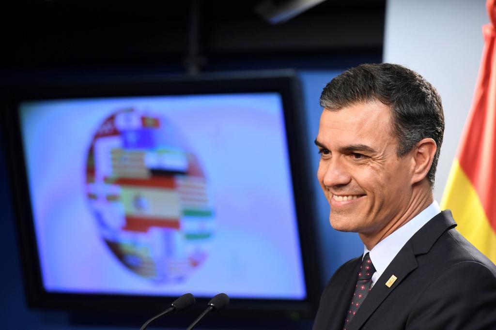 GRAF7742. BRUSELAS.- El presidente del Gobierno, Pedro Sánchez, en su...